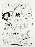 "DDR-Kunst. ""Tagträume"", 1984. Lithographie Wolfgang HENNE (*1949 D) handsigniert"
