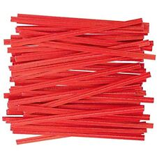 Apq Pack Of 2000 PlasticTwist Ties 8&quot. Standard Red-Colored For Various Wire