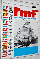 RMF RAIL MINIATURE FLASH N°56 1967 TRAINS LOCOMOTIVES HO CC-7000 7100 JOUEF