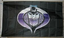 CobraCon G.I. Joe Cobra Decepticons 3'x5' Flag Banner Transformers USA Shipper