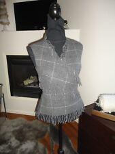 Vintage Alexander McQueen AWGray Wool Fringe Vest/S/women/Very rare