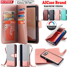 Samsung Galaxy S8 / Plus S8+ Leather Removable Wallet Magnetic Flip Cover Case