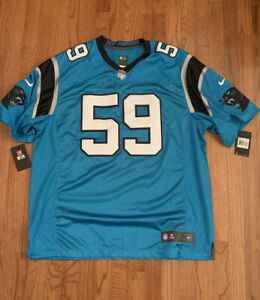 Men's Carolina Panthers Luke Kuechly #59 Nike Vapor Limited Jersey 2XL NWT $150