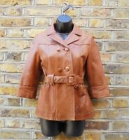 See By Chloe Brown Double Breasted Belted Broken Worn Wear Jacket Size UK 6