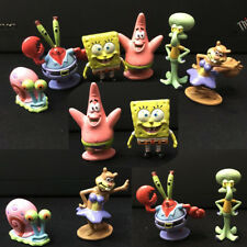 6Pcs/Set Spongebob Aquarium Ornament Cartoon Fish Tank Kids Decoration Squidward