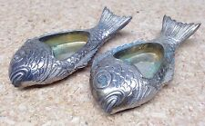 Tiffany & Co Sterling Silver Italy Fish Salt Dish / Bowl Shaker 168 Grams