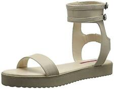 Brand New C.LABEL Size 7 Beige Flat Gladiator Platform Sandals
