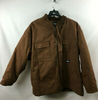 NWT Key Insulated Duck Chore Work Coat Jacket Brown Winter Barn Pockets 3XLT