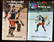 1968/1972 NHL Hockey Yearbooks All New York Rangers 4 Different EX