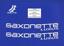 ORIGINAL SACHS Aufkleber Satz SAXONETTE Luxus  Alu / Silber ET: P005199472001015
