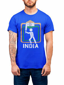 INDIA Cricket World Cup Organic T-Shirt Unisex Square Jersey Indian Kit Gift Eco