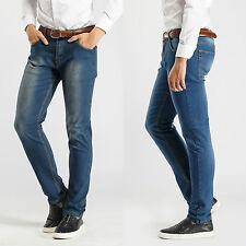 Robelli Men's Designer Slim Denim Stretch Jeans - Dark Blue (36W)