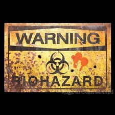*BIO HAZARD* Metal Warning Sign By Nemesis Now (43X28cm)