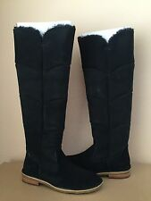 UGG SAMANTHA BLACK OVER THE KNEE SUEDE SHEARLING BOOTS US 10 / EU 41 / UK 8.5