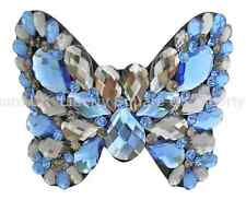 Outstanding Acrylic Blue Butterfly Hair Barrette / Wedding Hair Accessories #578
