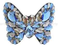 Pendientes De Acrílico Azul Mariposa pasador de pelo / Boda Accesorios Para El Cabello # 578