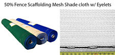 50% Fence Scaffold Mesh Shade Cloth 1.83m x 50m WHITE SHADECLOTH w/Eyelets