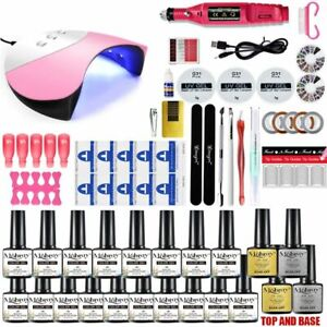 Nail Gel Polish Set UV LED Lamp Dryer For French Manicure Nail Tools Home Salon