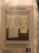 Wick ford Dining Room Armless Dining Chair Slipcover Taupe