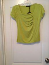 Vivi Italy Sz 14 Women Apple Green Short Sleeved Top!! Free Shipping!!