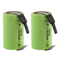 Kastar 2-Pack 2/3A 1600mAh 1.2V Ni-MH Rechargeable Batteries w/ Tabs