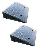 2x of Heavy Duty 20t Load Rubber Leveling Kerb Ramp 110mm High - Car, Wheelchair