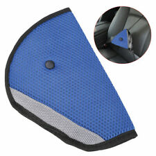 Comfortable Seat Belt Adjuster Car Child Safety Cover Harness BLUE Tri-Pad