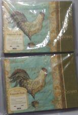 Pair of Two Hardcover Lang Rooster Recipe Keepsake Books