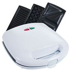 3 in 1 Electric Sandwich Panini Press and Waffle Maker Iron Changing Plates