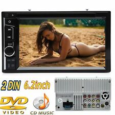 New!Double DIN 6.2 Inch In dash Car Stereo Radio CD DVD LCD Player Bluetooth