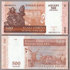 MADAGASCAR 500 Ariary 2004 Fior di Stampa Uncirculated Banknote