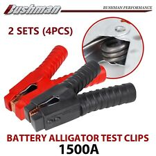 1500Amp Insulated Alligator Battery Clamps Jumper Lead Caravan UTE H Duty 2Sets