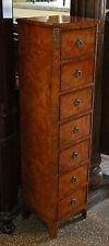 Gorgeous Single Burled Walnut French Louis Xvi Lingerie Chest Dresser