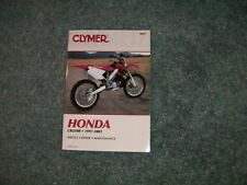 Clymer honda cr250r service repair manual
