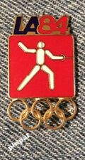 Fencing Olympic Pin Badge ~1984~Los Angeles~LA ~ Pictogram~Red