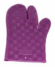 Guante De Horno De Silicona/soporte de olla/(resistente al calor) - líneas-Púrpura