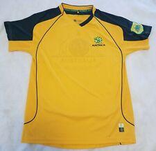 AUSTRALIA Socceroos soccer football jersey shirt kit yellow size 14 Small Medium