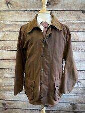Barbour Beaufort Jacket Brown Size XL w/ Polarquilt Waistcoat Liner