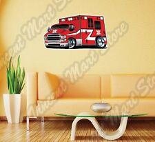 "Ambulance Rescue Emergency Truck Wall Sticker Room Interior Decor 25""X16"""