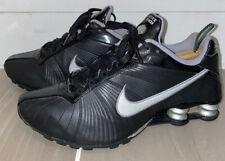 Nike Medallion Black/Silver Leather Shox 325211 001 Women Size 8.5 M Shoes EU 40
