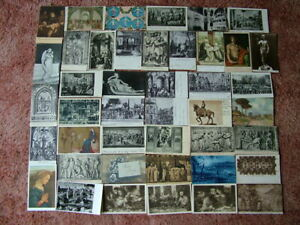 43 OLD & VERY OLD Postcards of/from ITALY. Standard size. 1900's onwards.