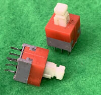 Pkg Of 2 6 Prong Red Top Push Button For Behringer Mixer MX1604A  #BGR-MX1604-07