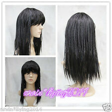 Sexy Ladies Women wig New black Braid Long Straight Natural Hair Wigs + Wig cap