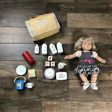 Bitty Baby Doll American Girl Blonde Hair Blue Eyes Outfit and Accessories