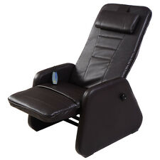New Zero Gravity Electric Massage Chair Recliner PU Leather w/Controller Brown