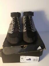 Adidas Mat Hog 2.0 Grey/Black Wrestling Shoes ( F99823 )