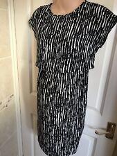 JoJo Maman Bebe Black Stripe Maternity & Nursing Dress Size 8 Summer New!