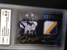 2012 Panini Black Rookie Signature Materials Prime Platinum #34 Jarius Wright/49