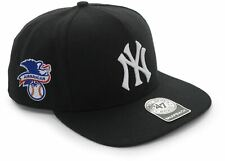 NEW 100% AUTHENTIC SUPREME NEW YORK YANKEES 5-PANEL CAP HAT BLACK SS15