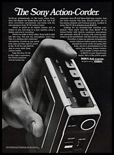 1974 Sony TC-55 Action-Corder Tape Recorder On-the-go B&W 1970s Vintage Print Ad
